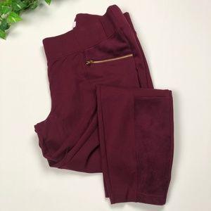 Old Navy Red Wine Stevie Leggings Soft Panel Pants